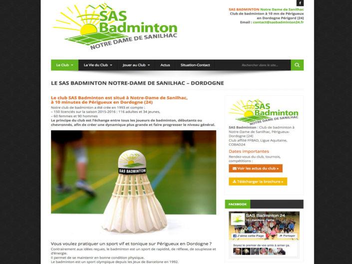 SAS Badminton - Club de badminton à Périgueux
